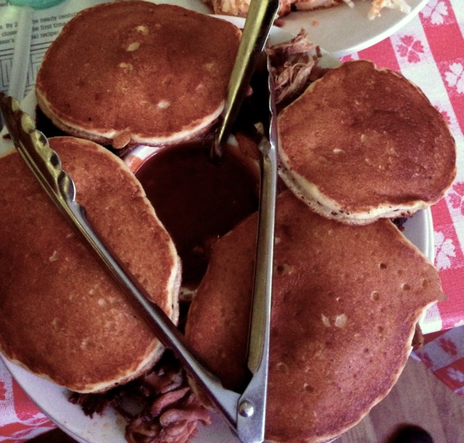 Pulled Pork with Hoe Cakes by Angela Roberts