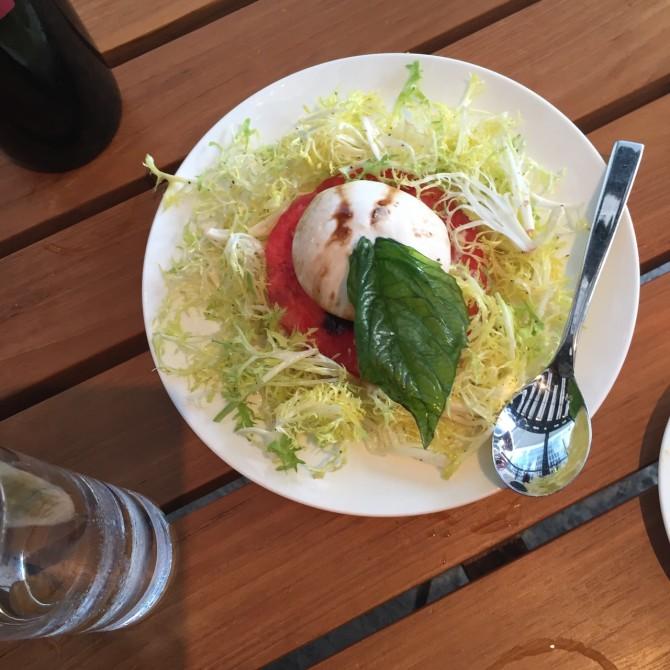 Watermelon Burrata Appetizer at Trattoria Il Mulino