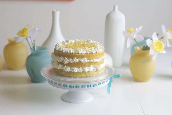 Lemon and Olive Oil Cream Cake