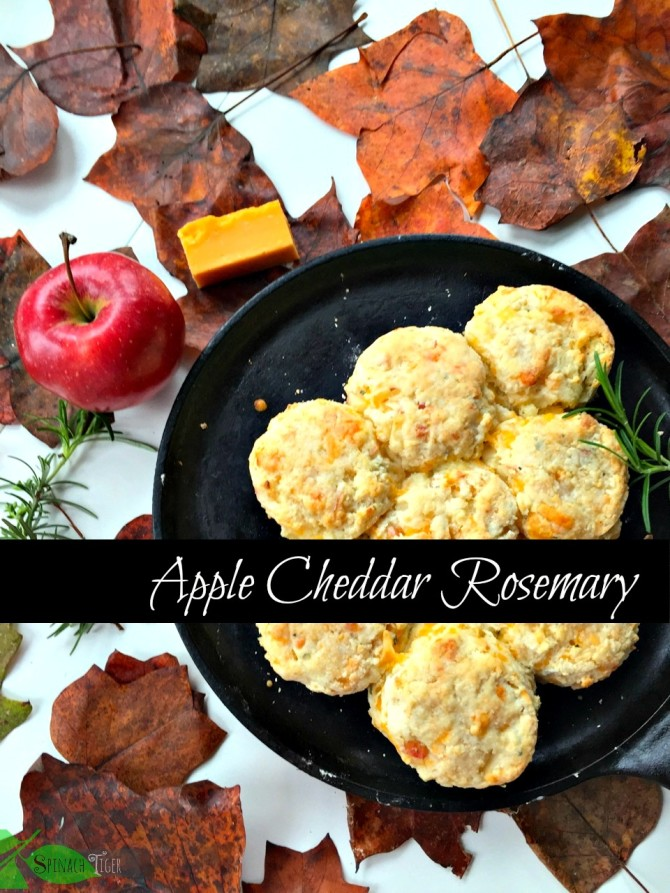 Apple Cheddar Rosemary Biscuits
