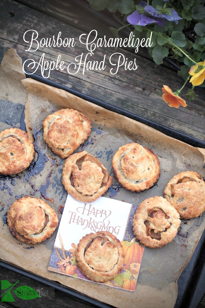 Bourbon Caramelized Hand pies: Best Apple Desserts from Spinach Tiger