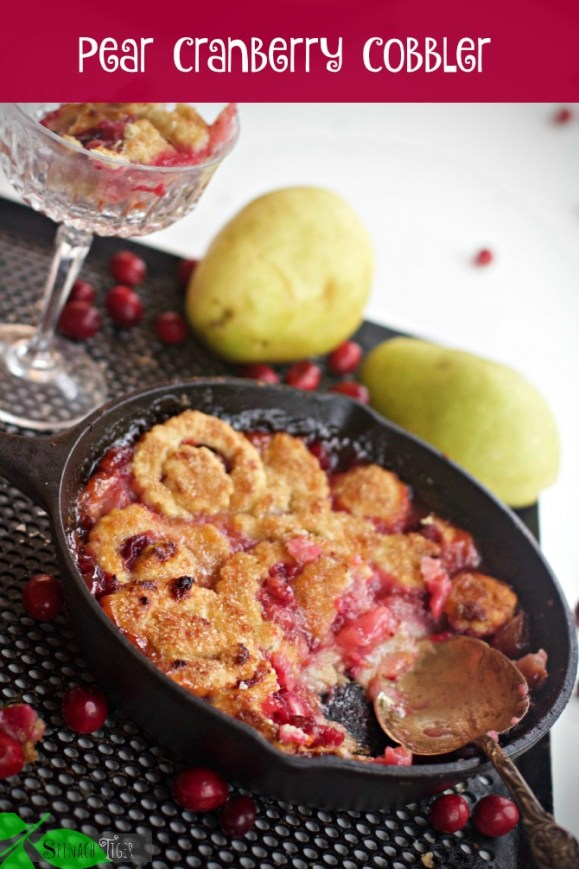 Pear Cranberry Cobbler Lead