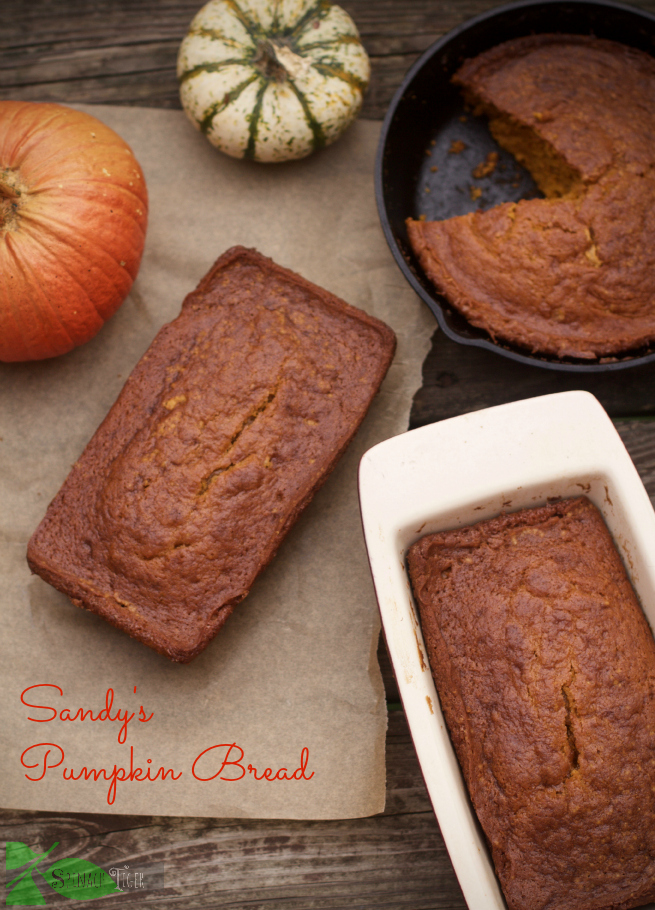 Best Pumpkin Dessert Recipes, Pumpkin Bread fom Spinach Tiger