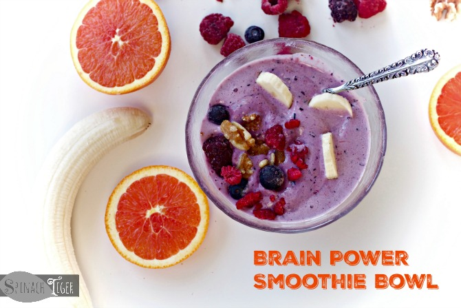 Brain Power Smoothie Bowl by Spinach Tiger