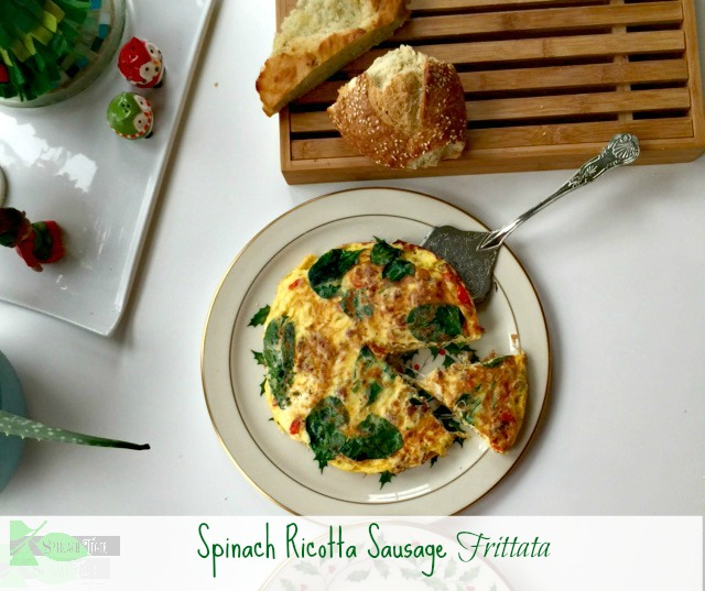 Spinach Ricotta Frittata from Spinach Tiger