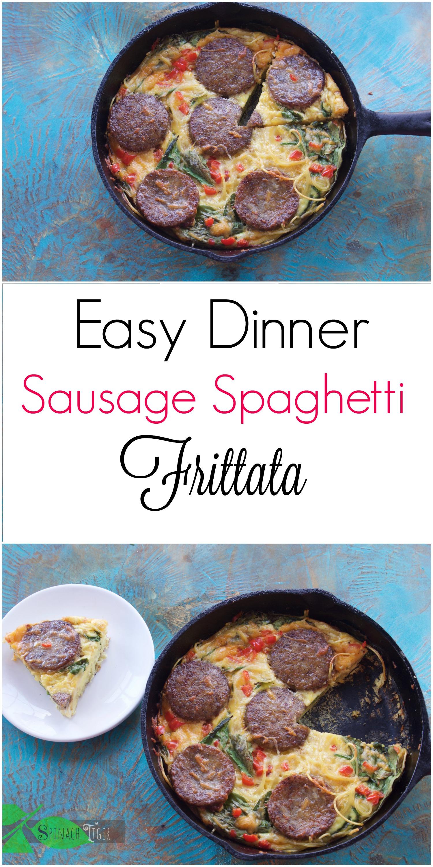 how to make easy sausage spaghetti frittata