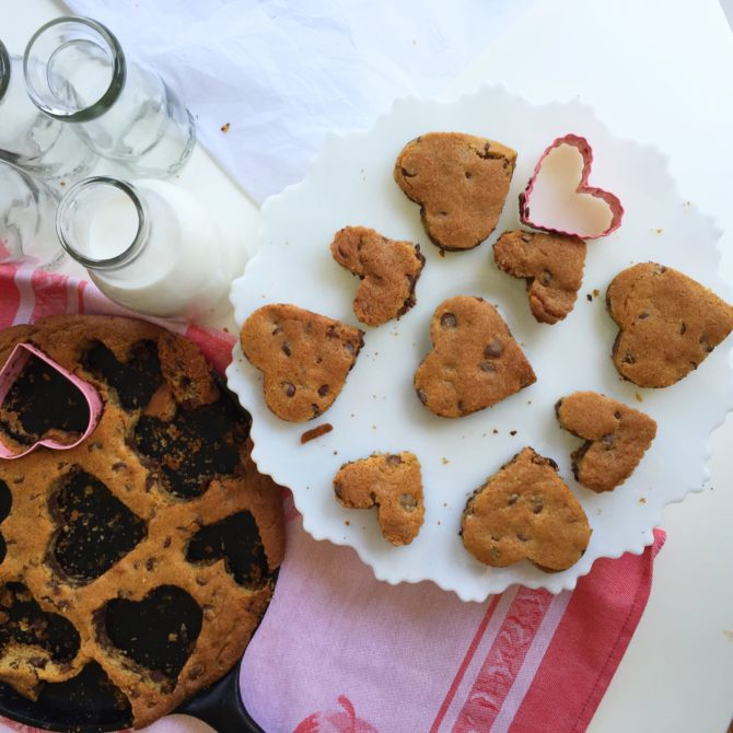 The Best SKillet Chocolate Chip Cookies by Angela Roberts