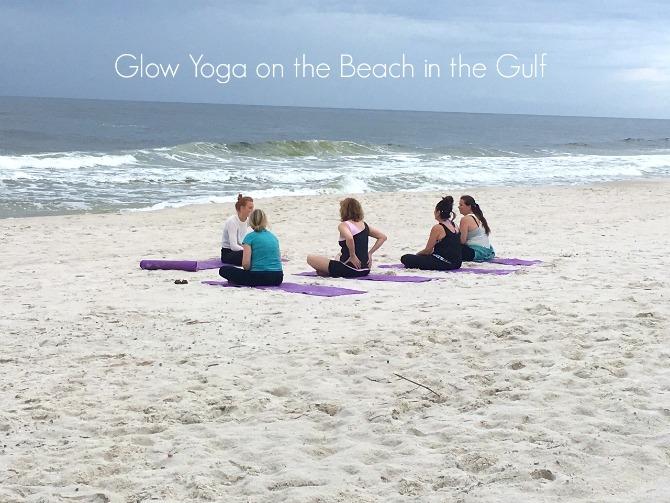 Glow Yoga on Alabama Beaches by Angela Roberts