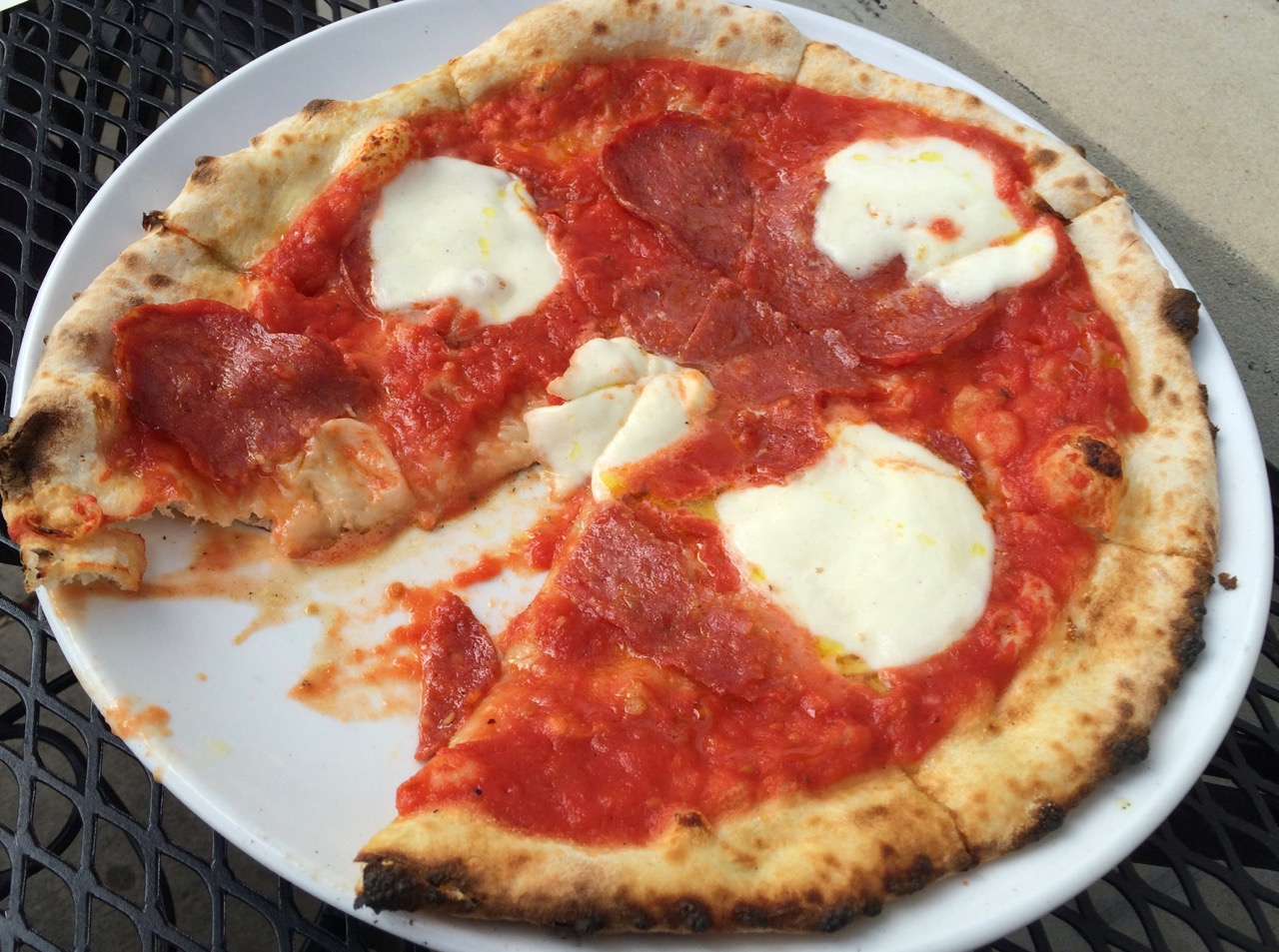 PIzza at Forno Osteria & Bar by Spinach Tiger