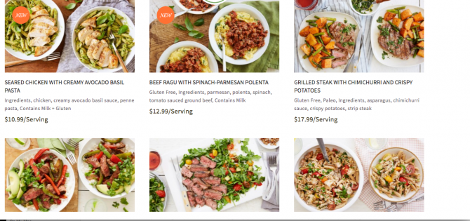 Terra's Kitchen Healthy Best Meal Delivery Service from Angela Roberts