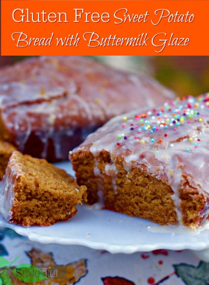 Amazing Gluten Free Sweet Potato Bread with Buttermilk Glaze from Spinach Tiger