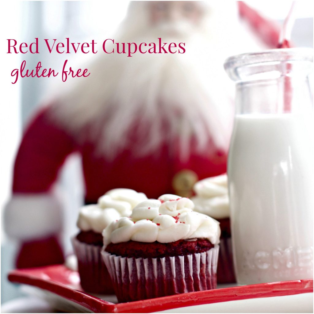 Best gluten free Red Velvet Cupcakes from Spinach Tiger