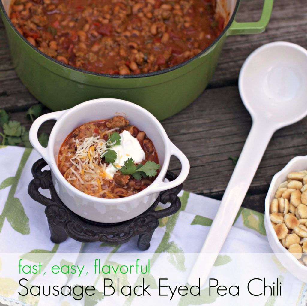 Sausage Black Eyed Pea Chili from Spinach Tiger