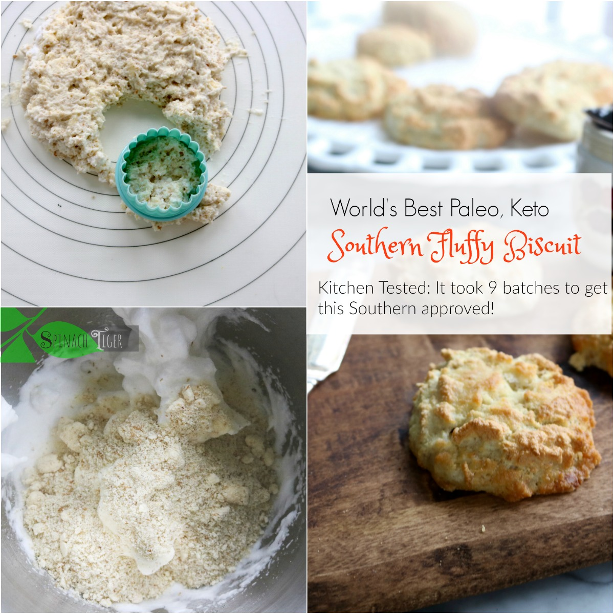 Grain Free Biscuits for Chicken Pot Pie from Spinach Tiger
