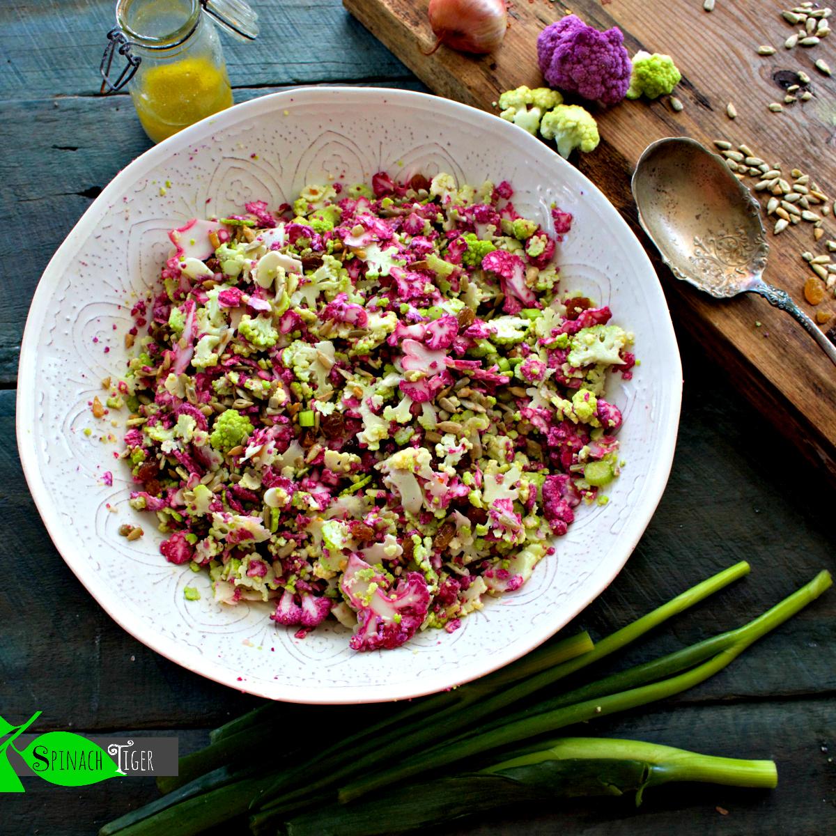 Keto Easter Food - Cauliflower Salad