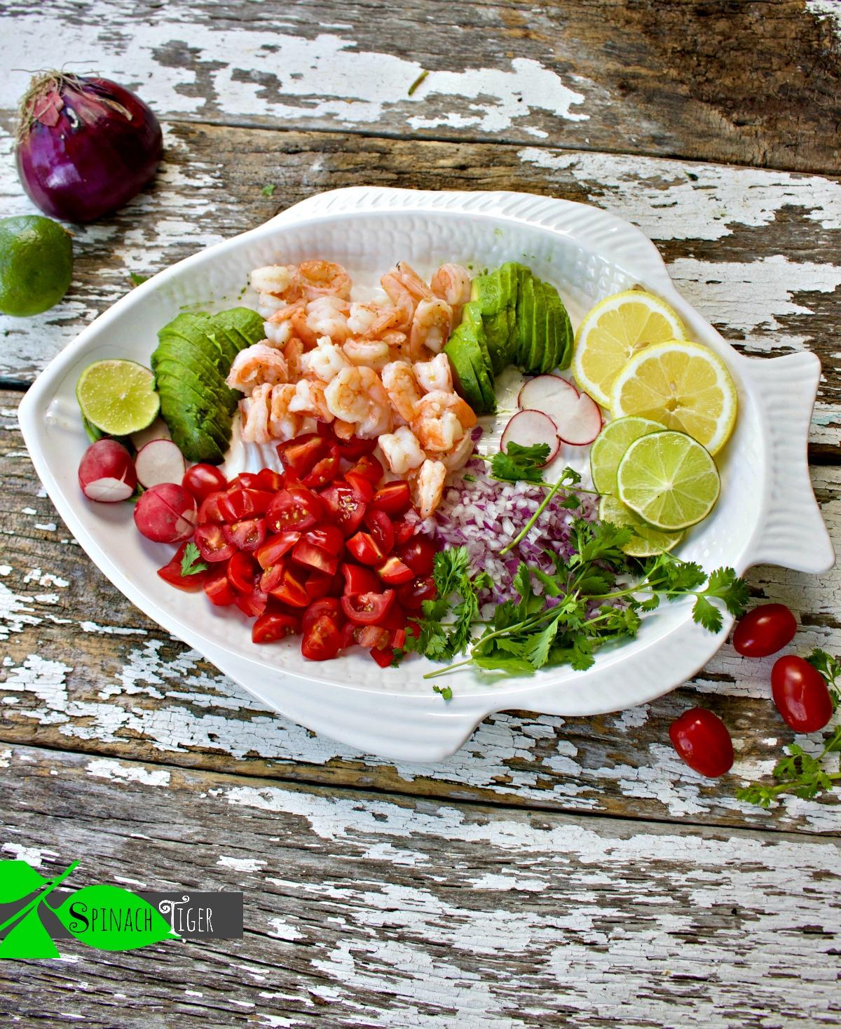 Delicious Shrimp Avocado Salad Recipe from Spinach Tiger