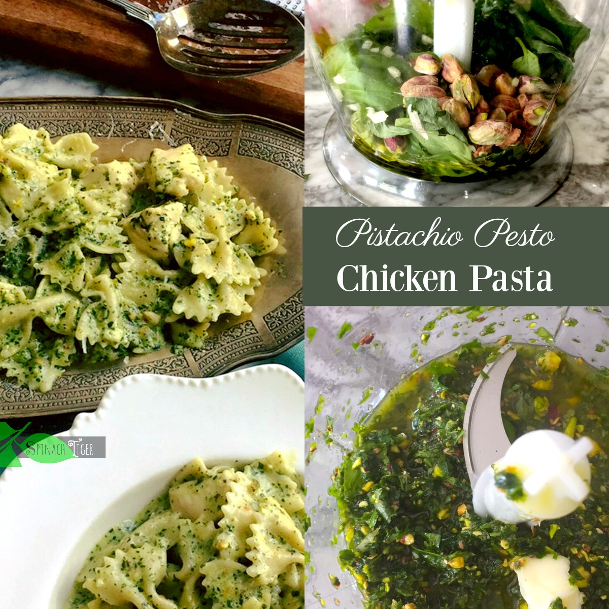 Healthy Chicken Pasta with Creamy Pistacho Pesto