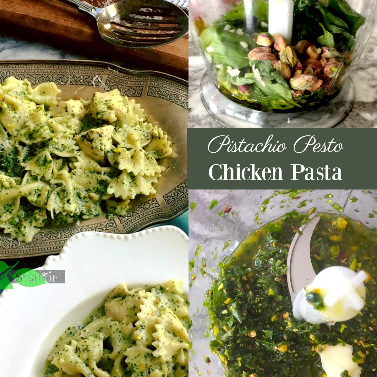 Healthy Chicken Pasta with Creamy Pesto from Spinach Tiger