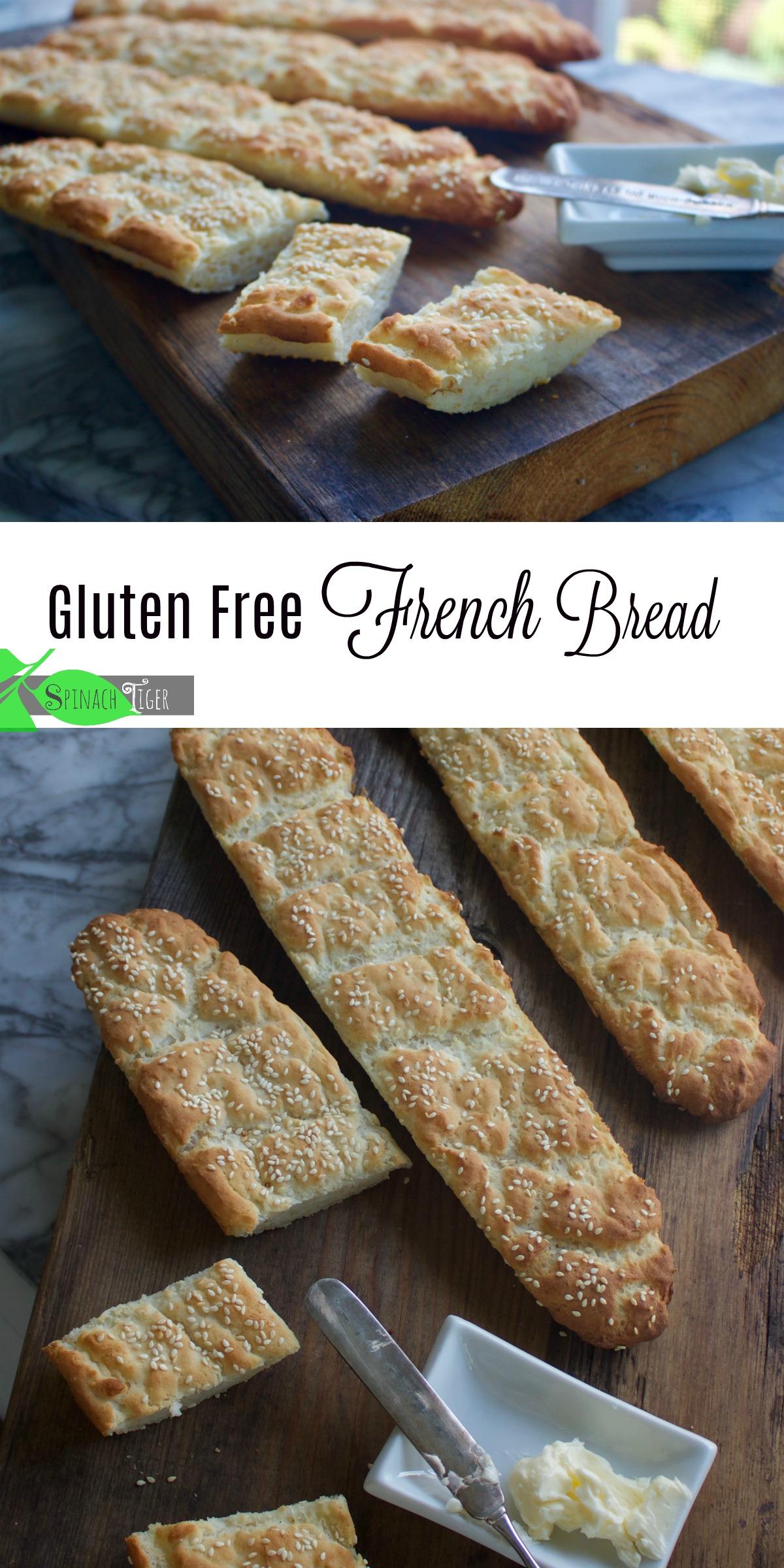 Delicious gluten free French Bread. Very easy to put together. #spinachtiger #glutenfreebread #glutenfreefrenchbread via @angelaroberts