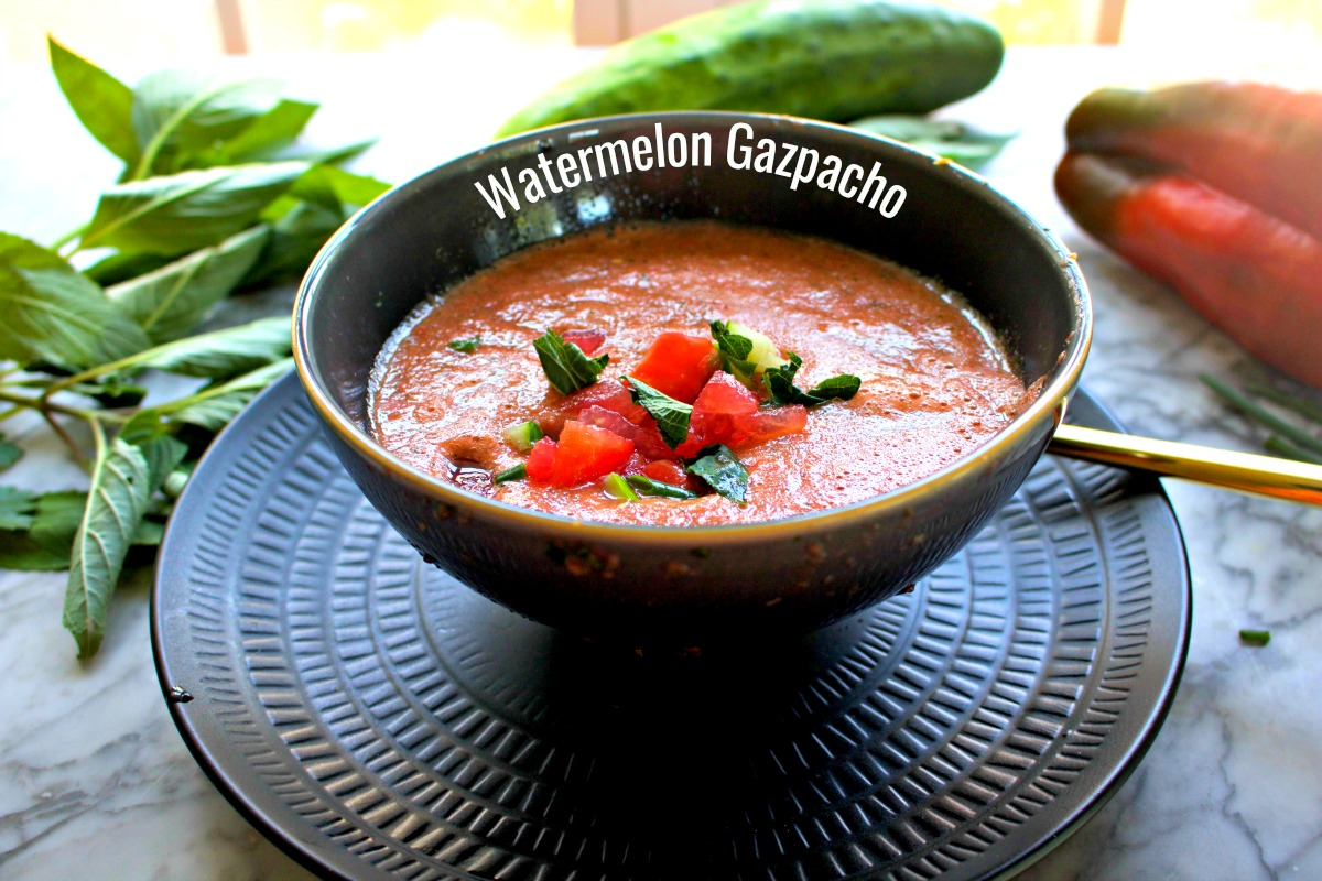 Easy Recipe for Watermelon Gazpacho from Spinach Tiger