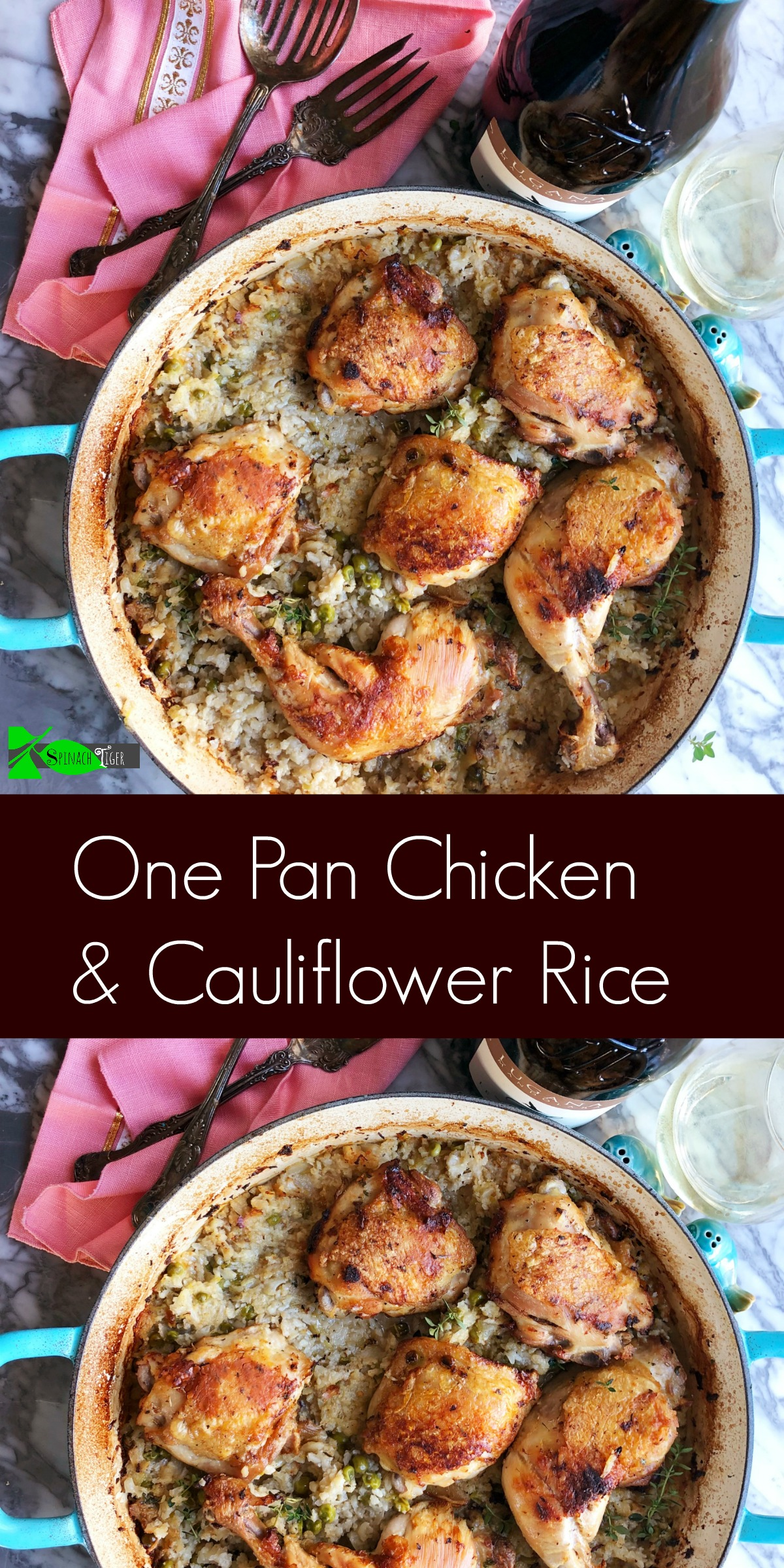 Recipes for Chicken Thighs from Spinach Tiger (Chicken and Cauliflower Rice)