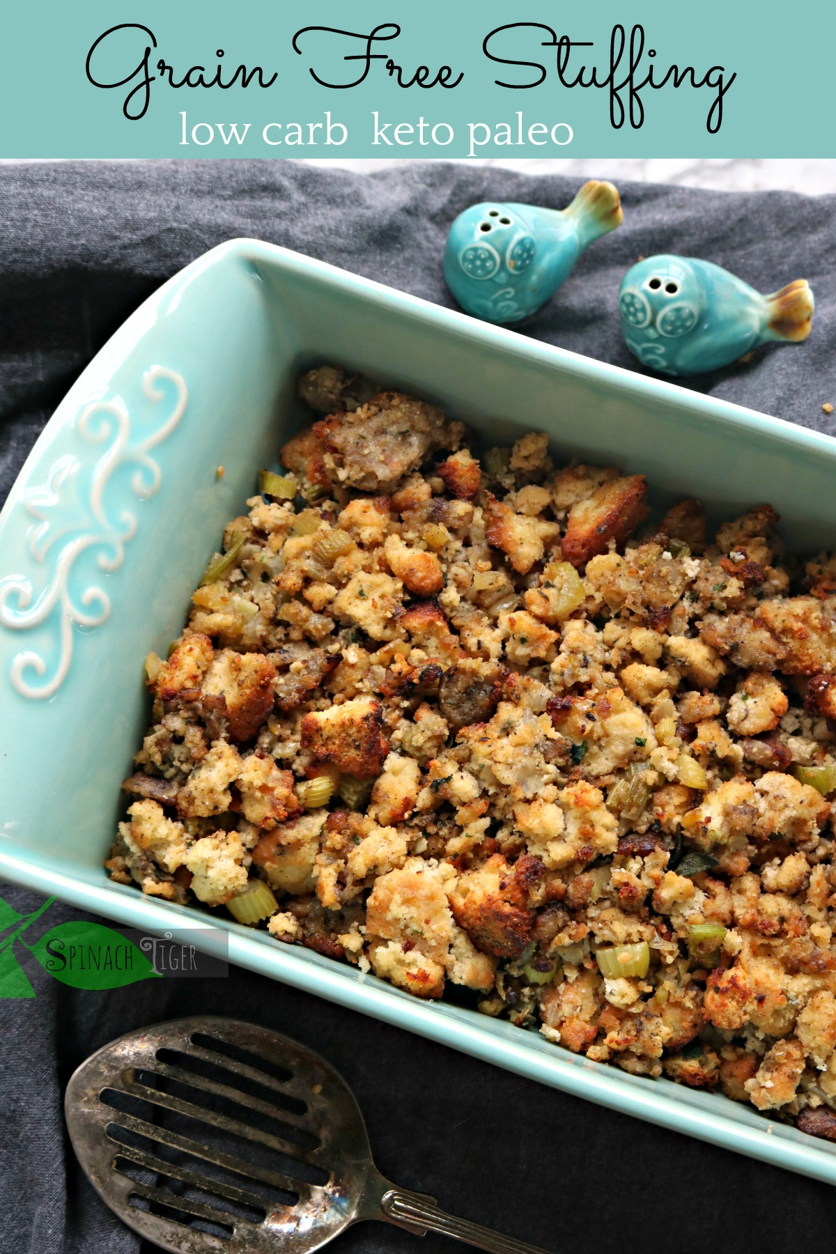 Grain Free Stuffing from Spinach Tiger