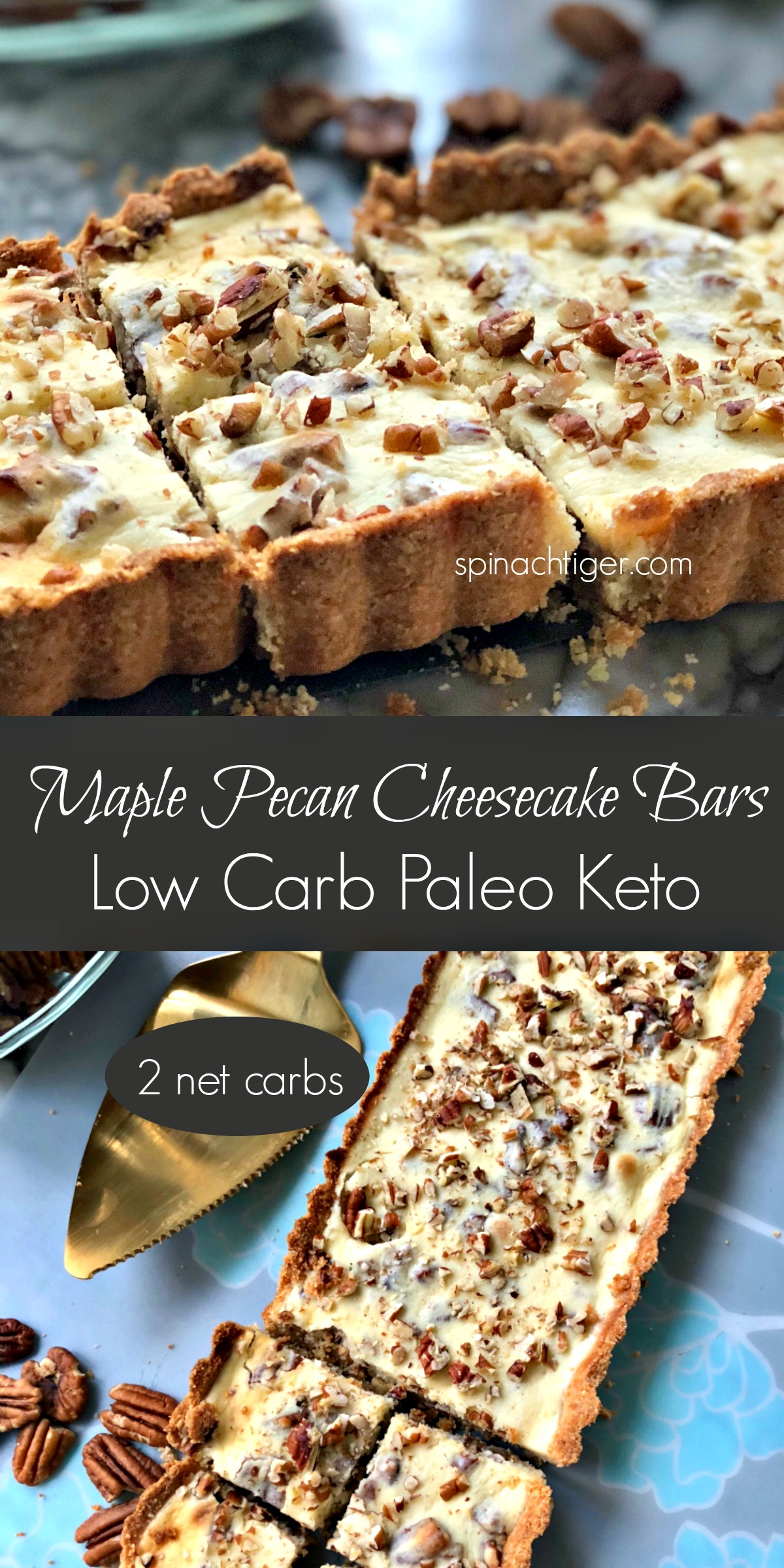How to Make Keto Maple Pecan Bars from Spinach Tiger