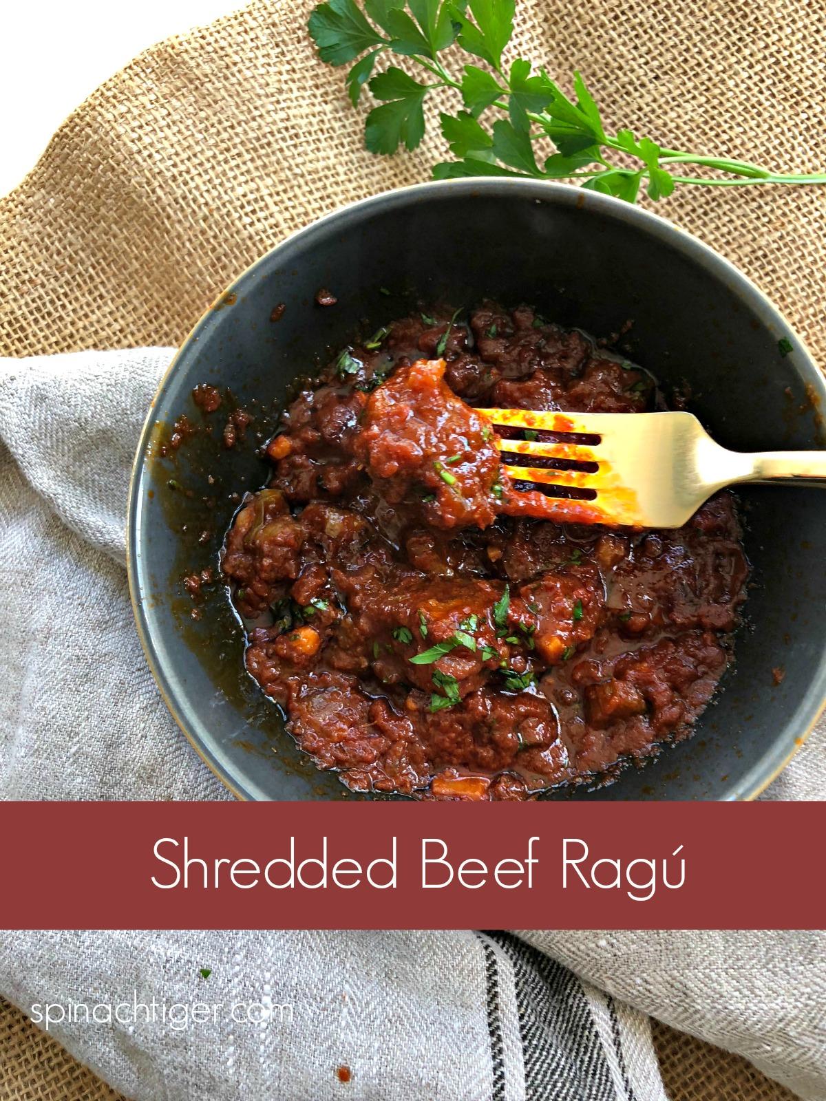 Italian Shredded Beef Ragu