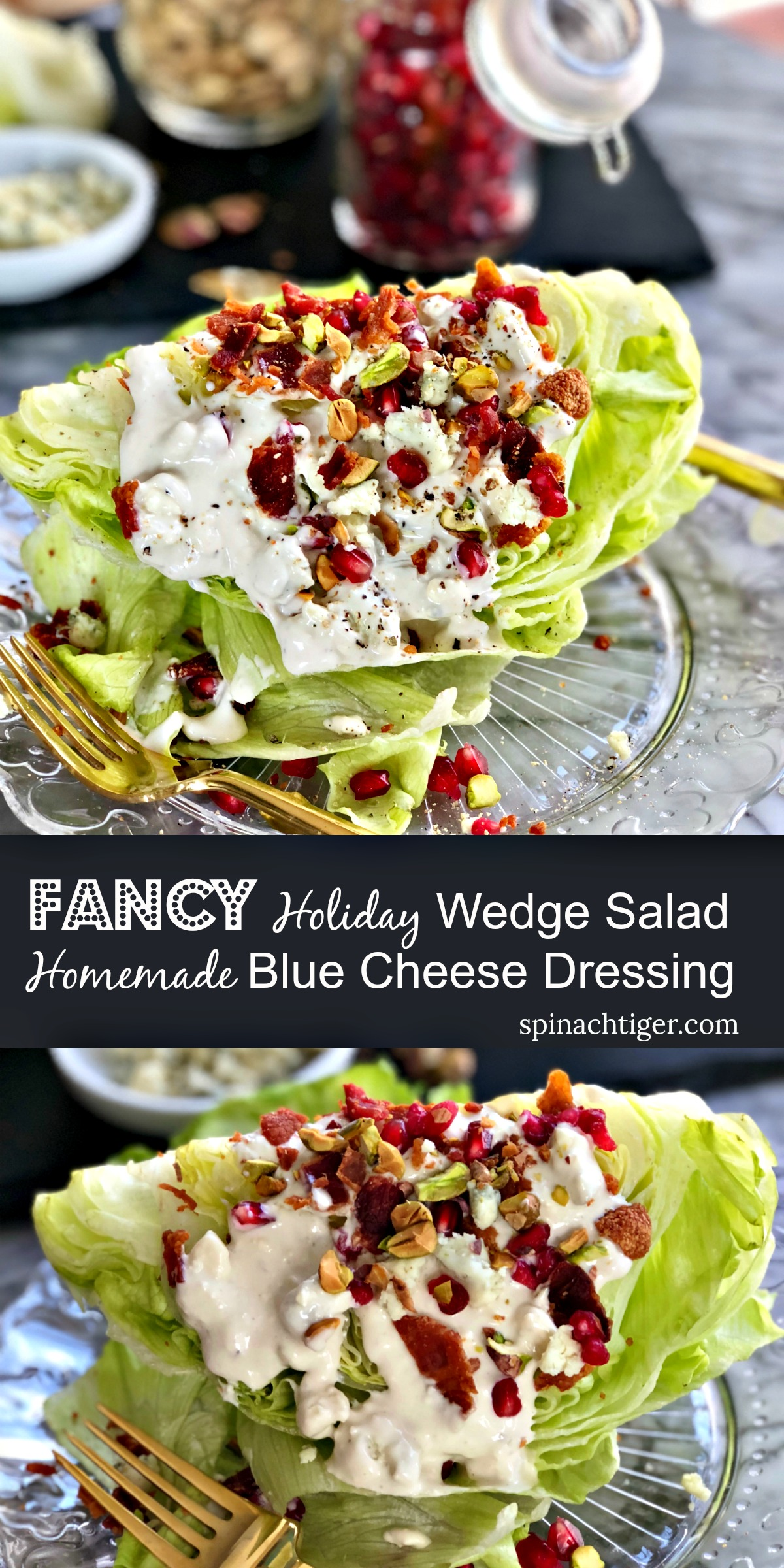 Make classic wedge salad with homemade blue cheese Dressing. #bluecheesedressing #wedgesalad  via @angelaroberts