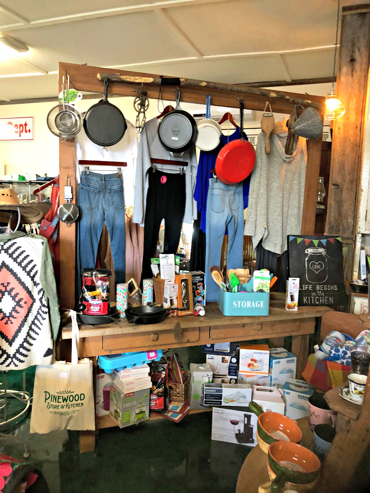 Shopping at Pinewood Kitchen & Mercantile from Spinach TIger