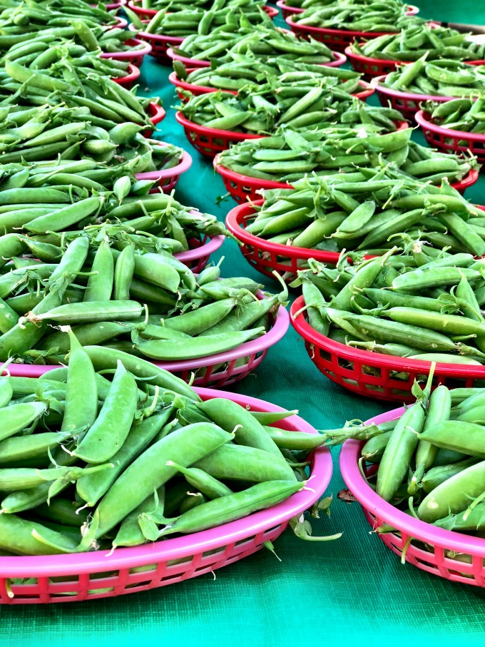 Snap peas Why I love the Franklin Farmer's Market, Franklin TN from Spinach Tiger