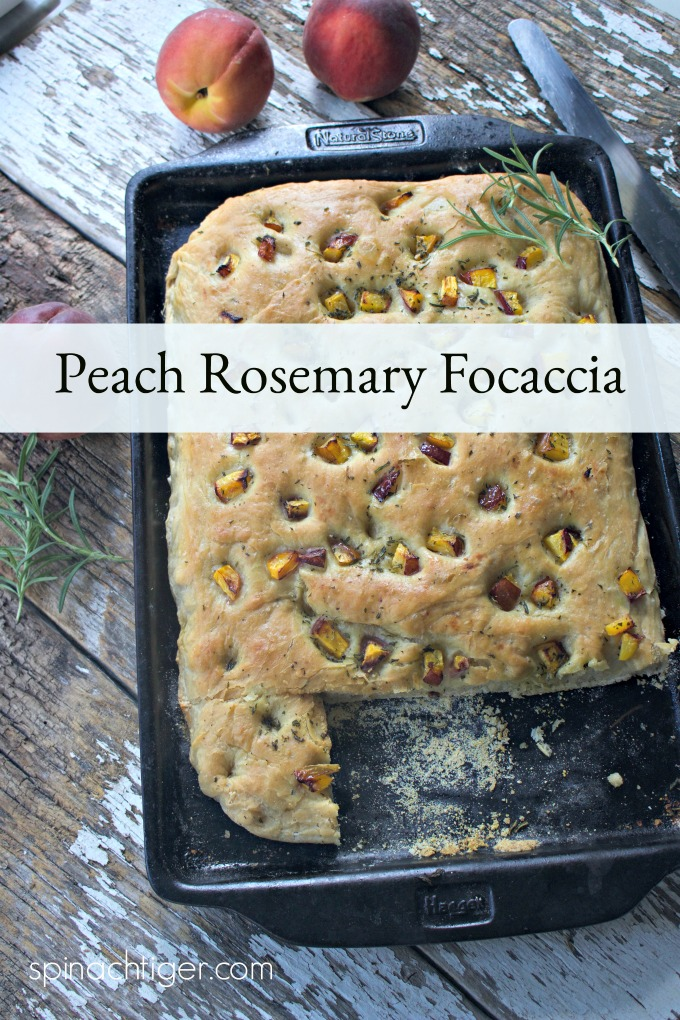 Peach Rosemary Focaccia from Spinach TIger