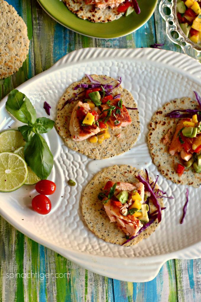 Pan Seared Salmon Tacos