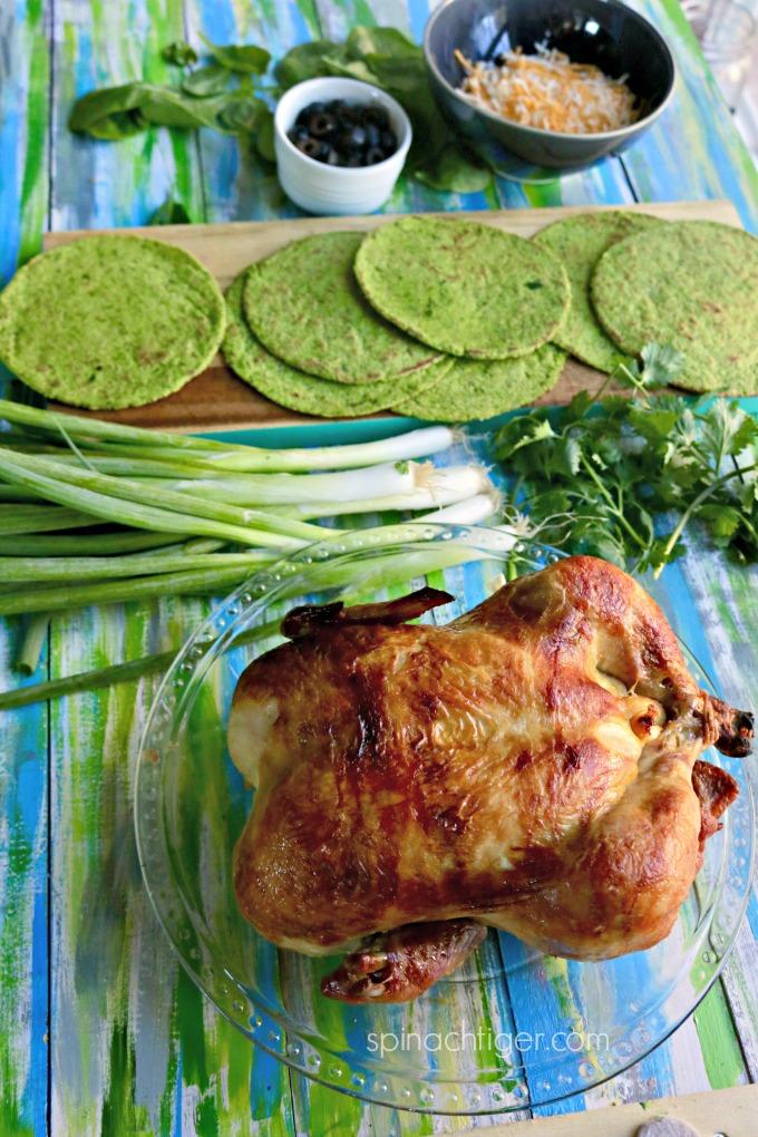 Keto Green Chicken Enchiladas from Spinach Tiger