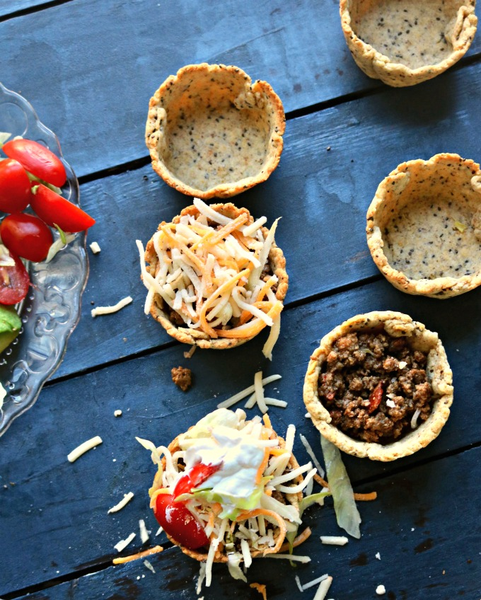 Keto Taco Cups from Spinach Tiger