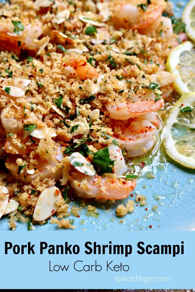 Pork Panko Keto Shrimp Scampi from Spinach TIger