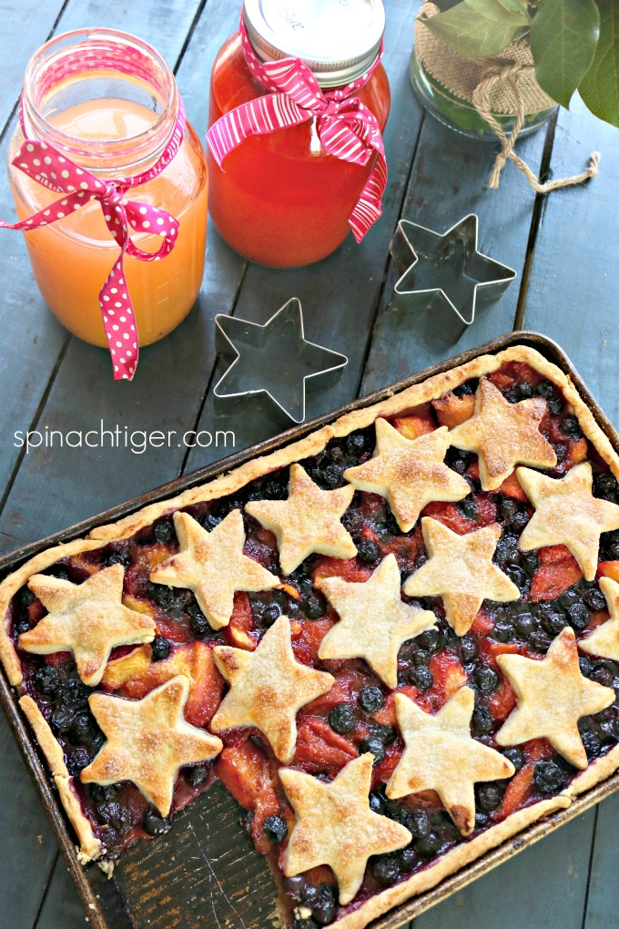 Sheet Pan Slab Pie for Summer Fruit from Spinach Tiger