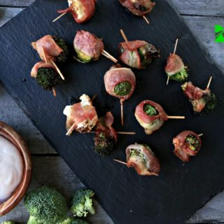Air Fryer Bacon Wrapped Veggies
