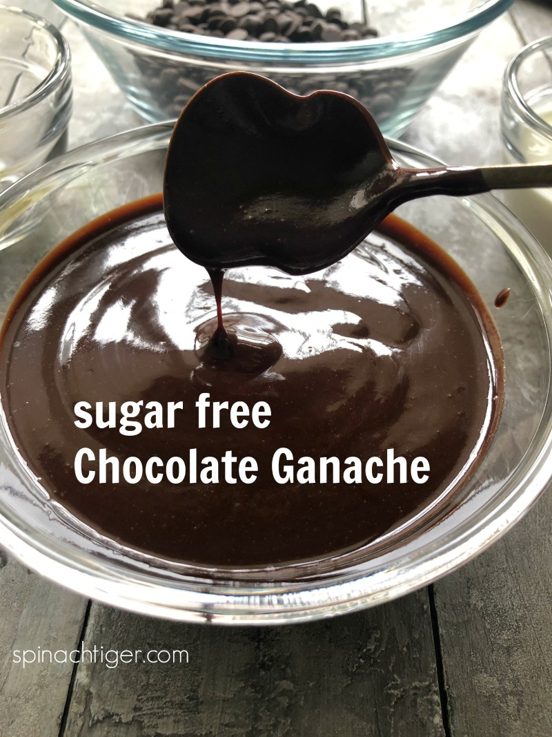 World's Best sugar free, keto chocolate ganache that stays glossy and tastes amazing. Using Choc Zero Chocolate Chips, heavy cream and butter, pours over cake and brownies and maintains its beautiful gloss. via @angelaroberts