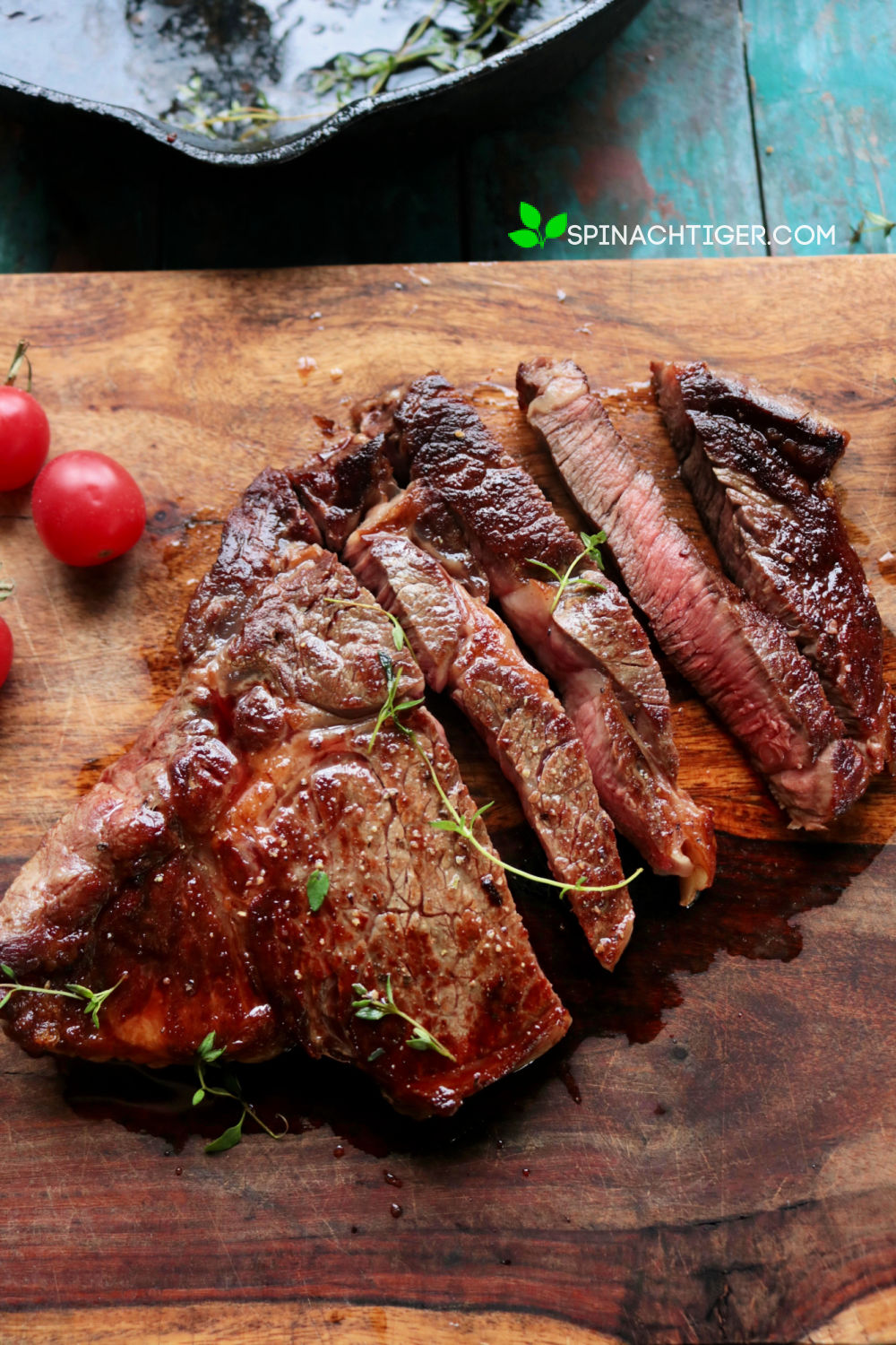 How to Cook the Perfect Ribeye Steak from Spinach Tiger