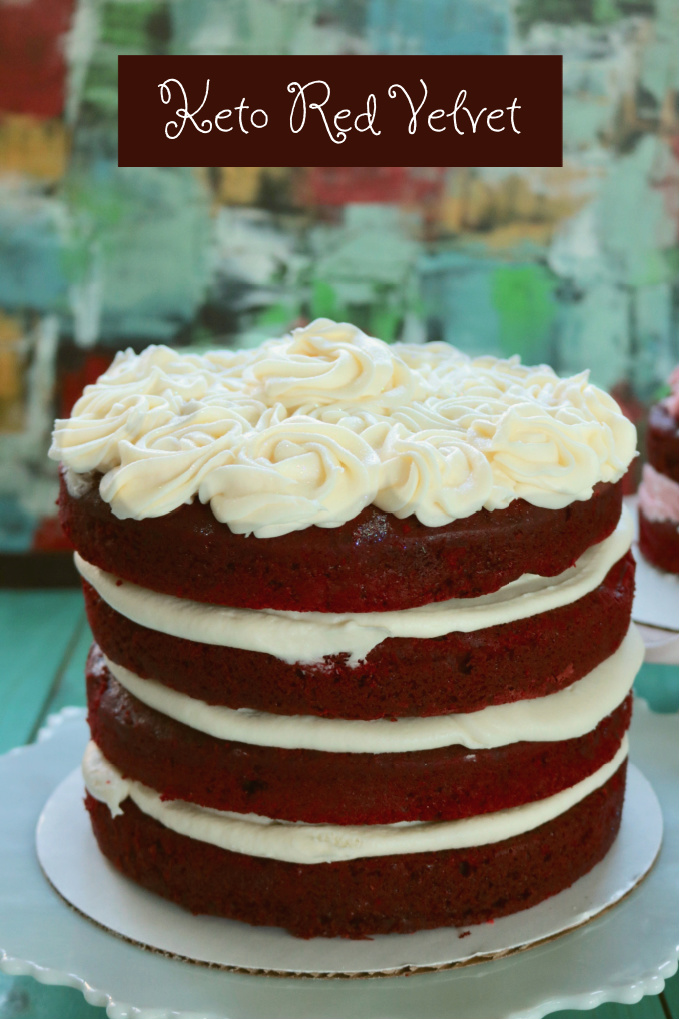 Keto Red Velvet Layer Cake with Cream Cheese Frosting. Sold in our keto bakery, a tried and true grain free, sugar free, low carb red velvet cake. #ketoredvelvet #spinachtiger #redvelvet #glutenfree #almondflour via @angelaroberts