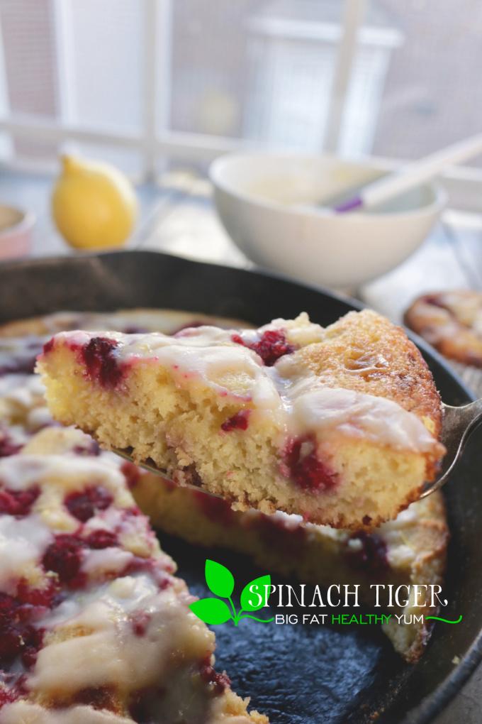 Keto Lemon Raspberry Cake