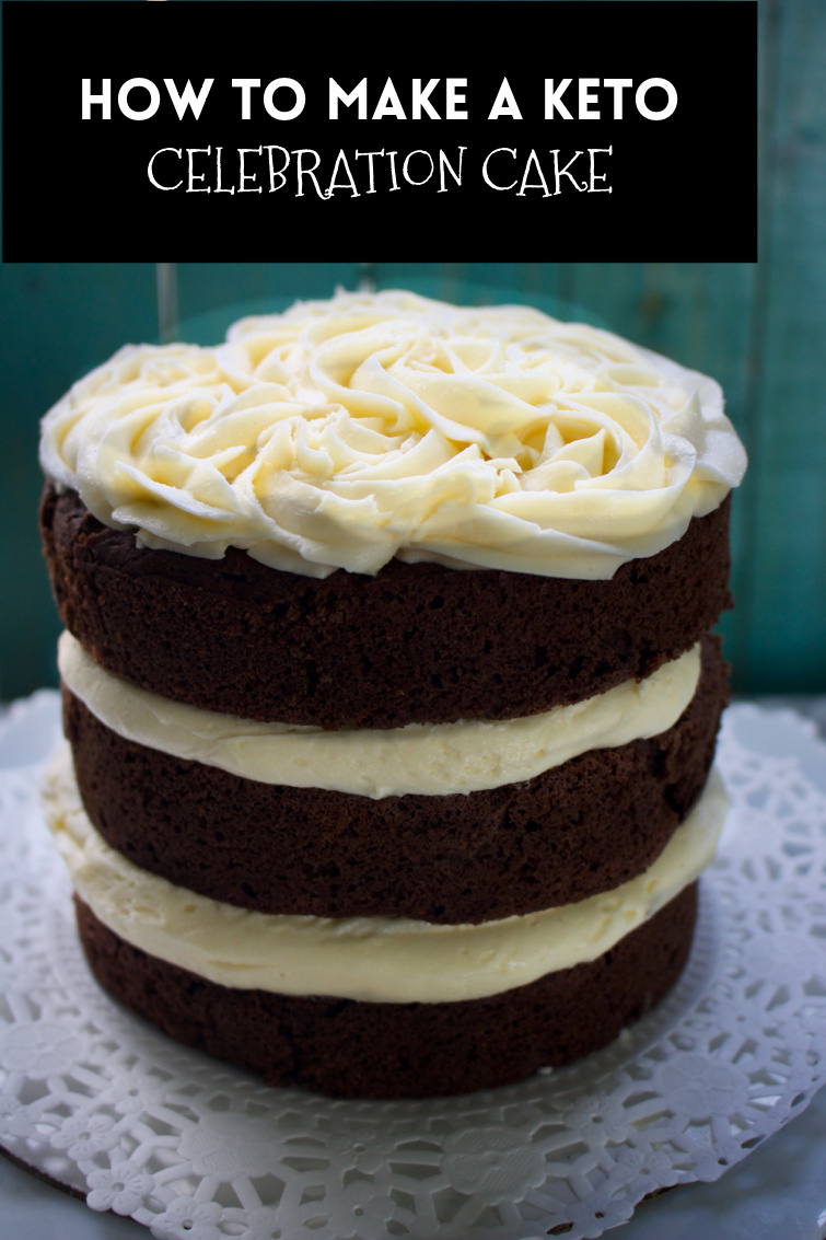 Make a six-inch triple chocolate keto birthday cake. How to frost. How to make perfect keto chocolate cake, Keto Vanilla buttercream. #ketocake #glutenfree #paleo #cake #chocolatecake #vanillabuttercream #spinachTiger via @angelaroberts