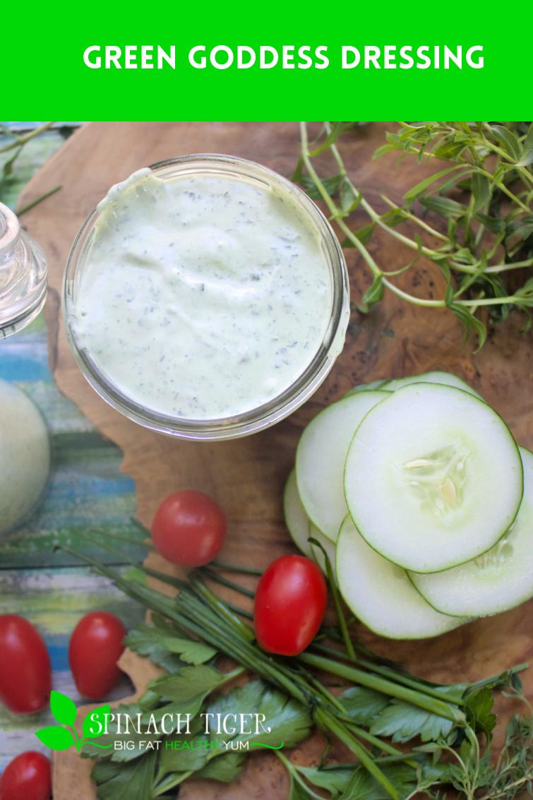 Make homemade green goddess dressing. Salads, Crudites, Artichokes, Fried seafood, fish tacos, deviled eggs. #greengoddess #saladdressing via @angelaroberts