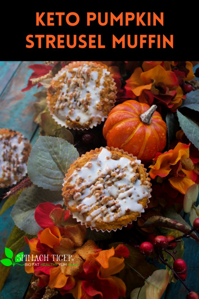 Keto Pumpkin Streusel Muffin from Spinach Tiger