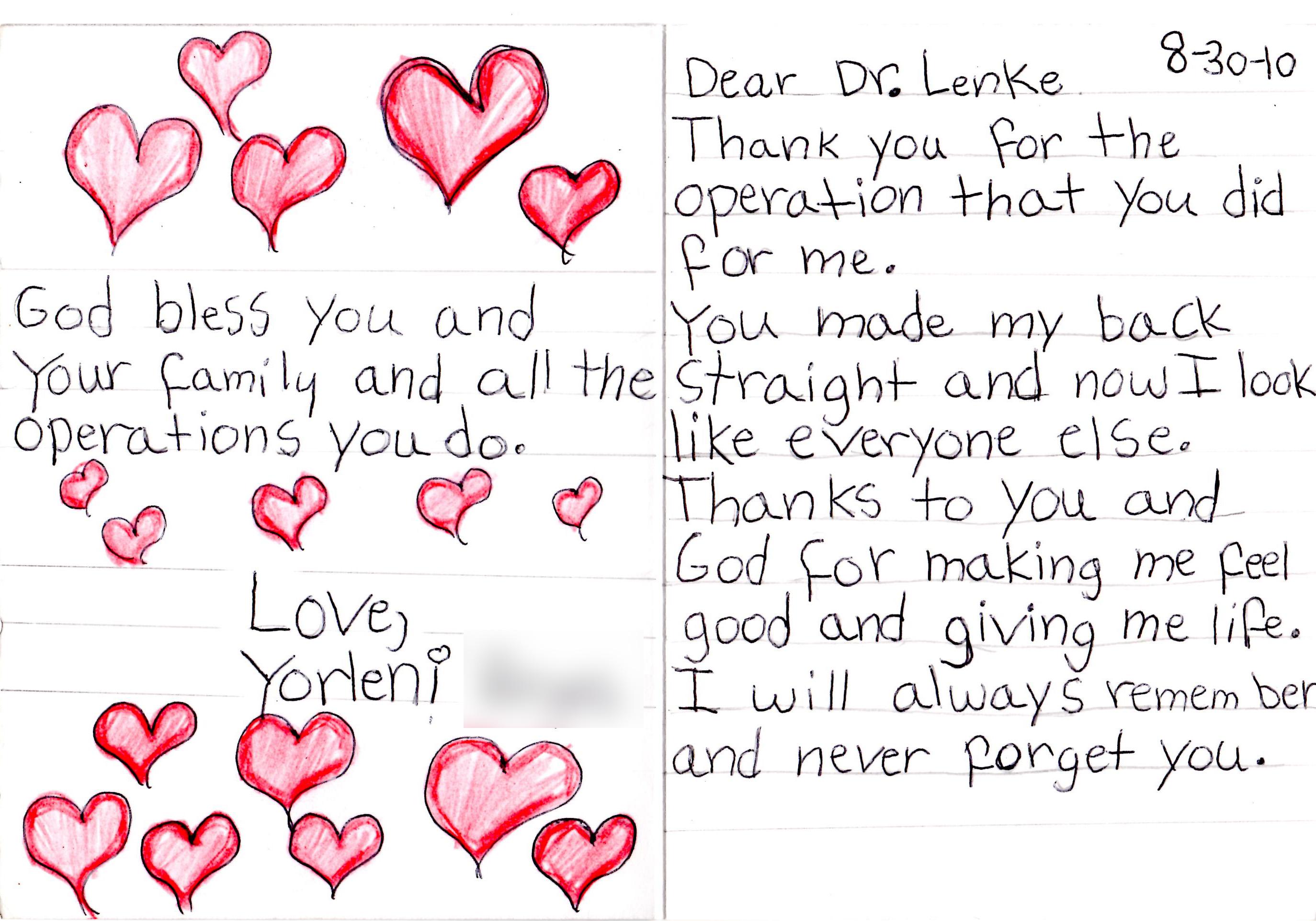 Expressions Of Gratitude Lawrence G Lenke MD