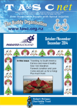 Cover of The TASC Net Newsletter December 2014- cover has 1 photos