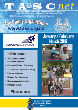 Cover of The TASC Net Newsletter March 2016- cover has 6 photos