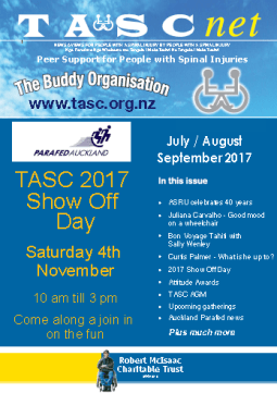 Cover of The TASC Net Newsletter September 2017 - cover has 2 photos