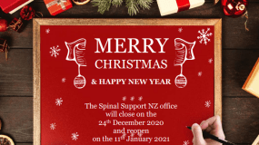Merry Christmas & Happy New Year The Spinal Support NZ office will close on the 24th December 2020 and reopen on the 11th January 2021